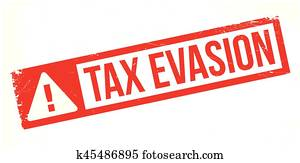 Tax Evasion rubber stamp