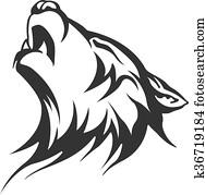 tribal tattoo wolf designs