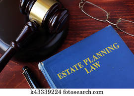 Book with title estate planning law