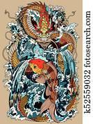 koi and dragon gate