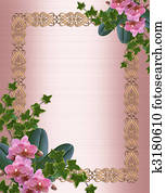 Orchids and ivy border