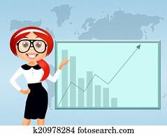 business woman cartoon