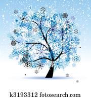 clip art winter baum snowflakes weihnachten holiday. Black Bedroom Furniture Sets. Home Design Ideas