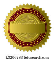 goldenes, etikett, (vector)