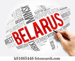 List of cities and towns in Belarus, word cloud