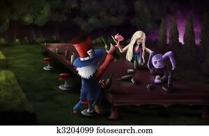 Tea Party - Digital Art Painting