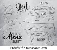 Meat menu coal