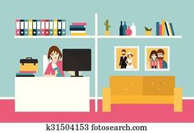 Clipart appartamento disegno casa interno vista for Disegno casa interno