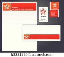 Letterhead design with logo - 3