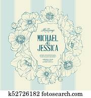 Bridal Shower invitation card.
