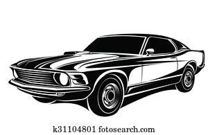 Car classic vector