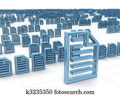 Electronic data storing and hosting concept