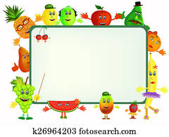 fruit cartoon background