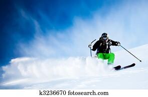 Man's skiing