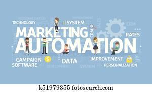Marketing automation concept.