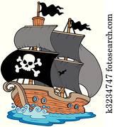 pirat, segelboot