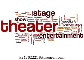 Theater word cloud