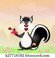 funny skunk with perfume