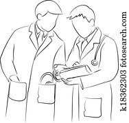 Doctor and doctor consulting