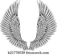 Eagle or angel wings