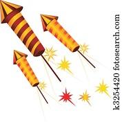 fire crackers in rocket shape