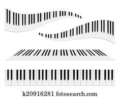 klavier, tastaturen