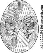 Zentangle easter egg