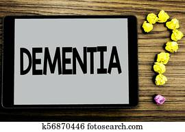 Writing term paper on dementia