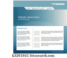 Web Site Template Vector