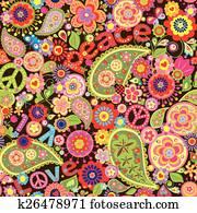 hippie, tapezieren