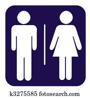 Male and female toilet button