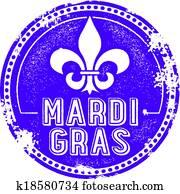 Mardi Gras Holida Stamp