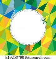 Retro Color Background With Coupon