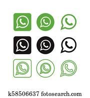 Whatsapp social media icons