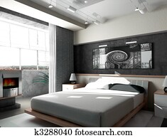 Bedroom in the morning