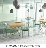 dining table in cafe