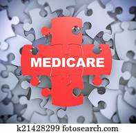 3d puzzle pieces - medicare