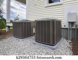 HVAC heating and air units