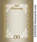 50th anniversary invitation