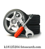 tire and tools