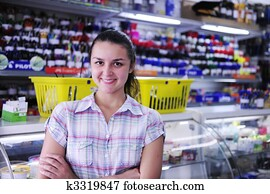 happy owner of stationery shop