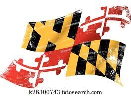 Maryland grunge flag