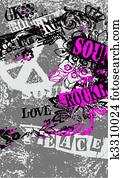 peace artistic poster
