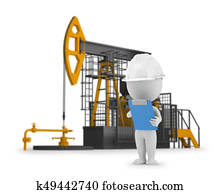 3d small people - engineer petroleum