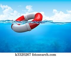 Help! Ring-buoy underwater