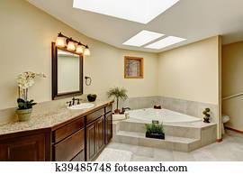 Bagno In Camera Con Vetrata : Bianco bacini in vanità unità con vetro cima in moderno
