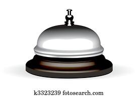realistic hotel bell. Bitmap version