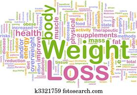 Weight loss background concept