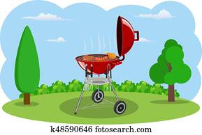 grill- grill, und, küchenutensilien