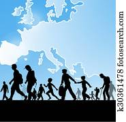 immigration people on europe